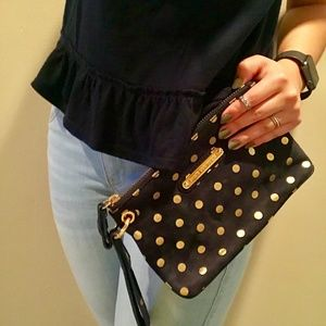 Juicy Couture Blue Polka Dot Clutch